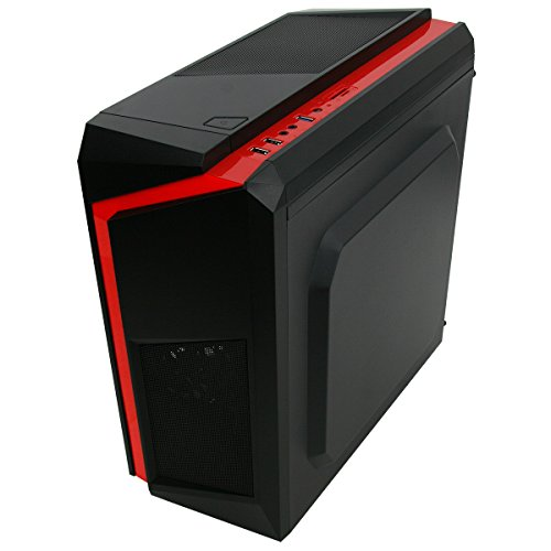 Gaming PC Package Deal: CIT F3 Black-Red Computer Case with Red Fans - Intel Core i5 Quad Core 3.10GHz CPU - Fast 16GB DDR3 Memory - Rapid 100GB SSD + Massive 2TB HDD - Nvidia GeForce 2GB Graphics Card - Genuine Windows 10 Home 64Bit CoA License - FREE WiFi Dongle and Gaming Keyboard and Mouse