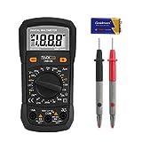 Tacklife CM02A Zangenamperemeter 6000 Counts Stromzange Strommesszange Clamp Meter Voltmeter Amperemeter mit Messleitung Batterie für AC/DC Spannung Strom Widerstand Kapazitanz Temperatur