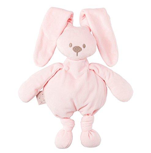 Nattou 878012 Lapidou Kuscheltier Baby für Mädchen und Jungen, 30 cm Stofftier Unisex, Geschenk Spieltier, rosa