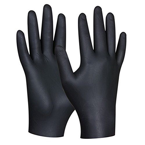 Preisvergleich Produktbild GEBOL 709629 Einweghandschuh Nitril Ultra Strong, Black, Groesse: S, 80 Stücke