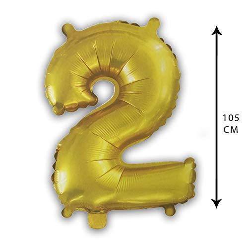 Party Globo Número Gigante en Color Dorado Metalizado Ideal para Fiesta de...