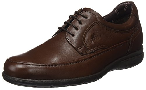 Fluchos Luca, Zapatos de Cordones Derby para Hombre, (Ave Negro), 41 EU