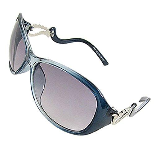 DealMux Lady Klar Grau Bent Arm Metal-Tempel Brillen Sonnenbrillen