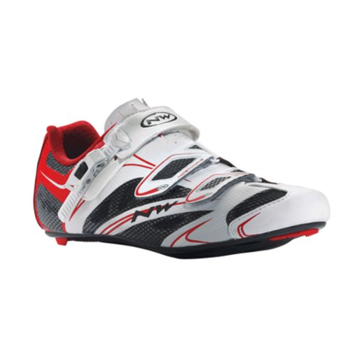 Northwave Sonic Srs, Scarpe da ciclismo uomo, bianco (bianco/rosso) blanc - noir - rouge