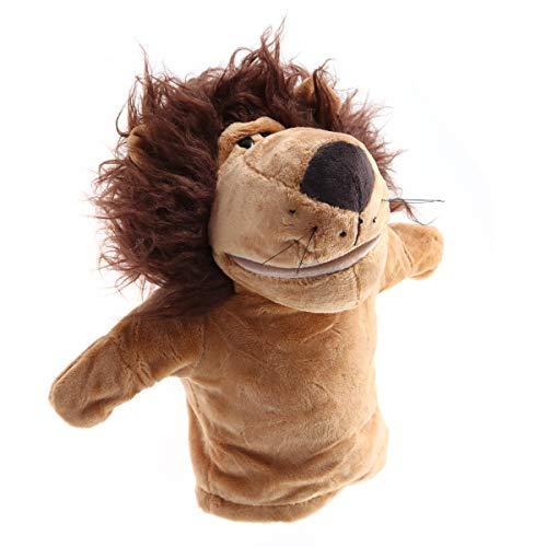 YeahiBaby Marionette per Animali Peluche per Guanto Bambola Storia Raccontare Pupazzi Gioco di Ruolo Marionette Giocattolo Leone