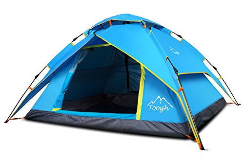 Toogh 2-3 Person pop-up Family Camping Zelte - Four Seasons Backpack Zelte , Doppelbetten und Moskitonetze. Inklusive Transporttasche