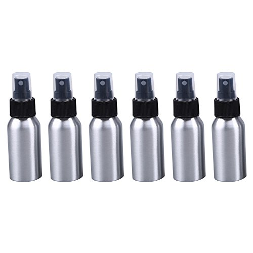 6pcs aluminio botella de Spray 6-Pack 40ml wcic recargable atomizador de viaje regalo fina niebla botellas para aceite esencial maquillaje t/óner