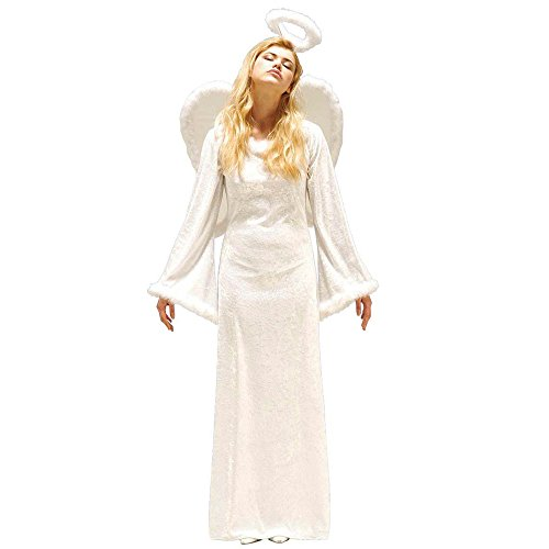 Widmann 44172 - Erwachsenenkostüm Engel Samt, Kleid, Flügel und Heiligenschein, Größe (Kostüme Angel Dress Heavenly)