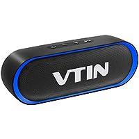 VTIN R4 Altavoz Bluetooth Portatil, 12W Altavoz Portatil Bluetooth, 24H de Reproducción, Altavoz Exterior con Micrófono, AUX/TF, para Móvil, Tabletas, MP3, Fiestas, Viajes