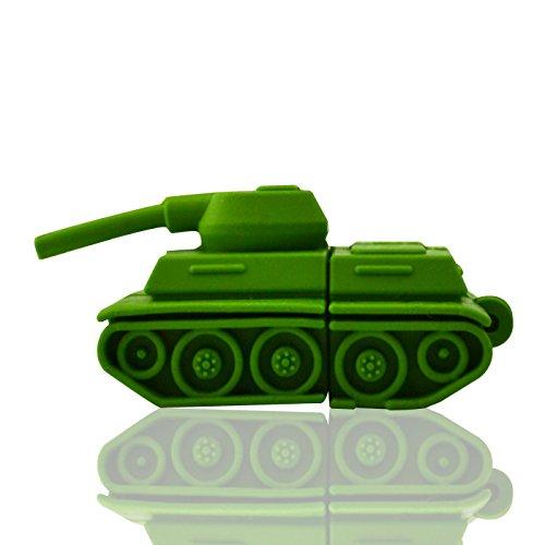 818-Shop No19300070128 USB-Sticks 128GB Kriegsfahrzeug Panzer 3D grün