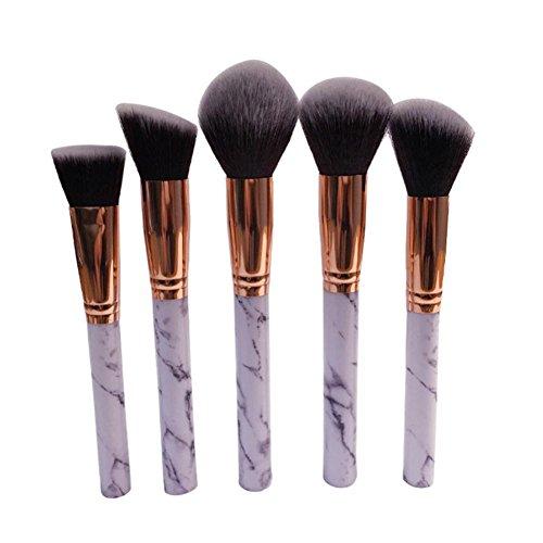 Honestyi-Pinceau de Maquillage Multifonctionnel Jeu de pinceaux correcteur Eyeshadow Outil de Maquillage (Blanc)