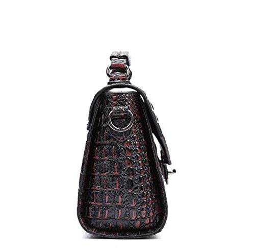 Damen Schultertasche Handtasche Messenger Bag Krokodil Muster Leder Leder Licht Mode Klassische Handtaschen A
