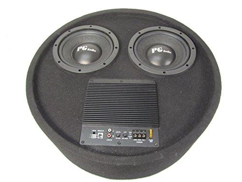 Aktiv Subwoofer Reserverad Round Box 2x20cm Bass PG-804DBA -