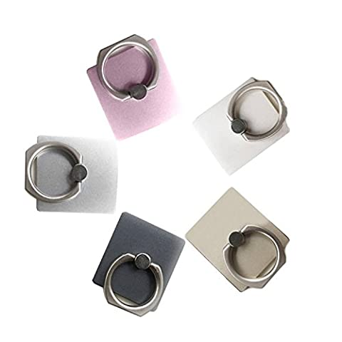 COOSA Pack 5 Ring Holder Stand - Support universel de téléphone 360 Grip ° Rotation Ring Stand de téléphone pour tous les téléphones