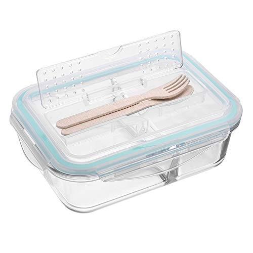 ZUEN Glas Brotdose Koreanische Brotdose Mikrowelle Brotdose Frischhaltedose Schulnahrungsmittelbehälter,S (Planetbox-lunch-box)