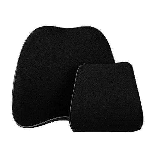 LoveHome Coussin de soutien à bagage lombaire avec coussin de coussin de voiture - Mousse à mémoire haute qualité avec housse en maille - Adaptation universelle - Support arrière idéal pour conduite routière - Nouveau design