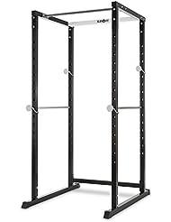 Klarfit PR1000 Jaula de musculación Multifuncional • Ajuste de Soportes de Seguridad • Extensión Barra olímpica