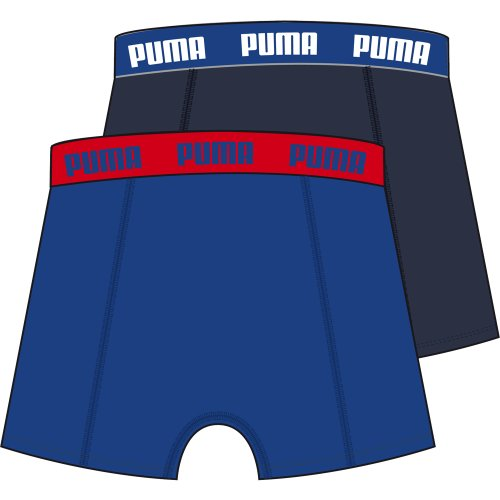 Puma Herren Boxershorts Basic 2er Pack, 521015001 033_surf the web / black iris