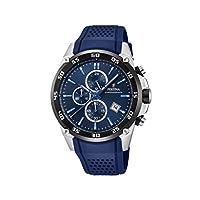 Festina Unisex volwassene chronograaf kwarts horloge met lederen armband F20330/2