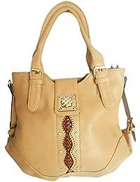 Clicktin Women's Shoulder Bag (Beige, CLKBAG173)