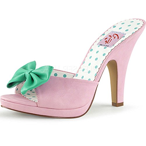 Pin Up Couture SIREN-03 B. Pink-Teal Faux Leather UK 5 (EU 38 )