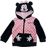 Disney Baby Minnie RH0037 Felpa con Cappuccio, Poliestere, Neonato (12 Mesi, Blu)