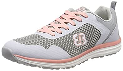 Bruetting Damen Movement Sneaker, Grau (Grau/Salmon Grau/Salmon), 39 EU