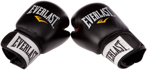 Everlast Erwachsene Boxartikel 6000L Moulded Foam Training Gloves Leather Black, 12 oz