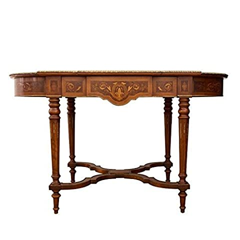 English Style dinning table Molitar inlaid top