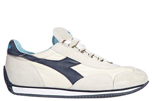 Diadora Heritage scarpe sneakers uomo camoscio nuove equipe stone vintage  bianco Bianco