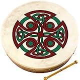 "Waltons: 8"" Inch Irish Bodhran / Beater / Carew Cross Bodhran Design"