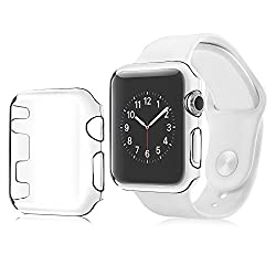 Insten [2-pack] Apple Watch Series 2 (42mm) Protective Case [Ultra Thinlightweight] Transparent Snap-in Hard Case Crystal Cover For Apple Watch Series 2 (42mm) Only, Clear
