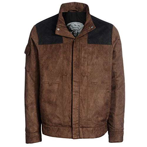 50051d631719f Musterbrand Star Wars Jacket Men Kessel Crew Brown L
