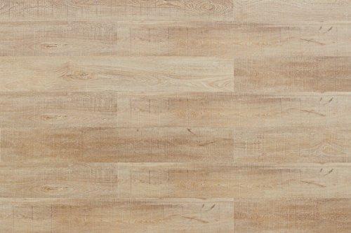 Cortex Kork Vinyl Bodenbelag Küsten Eiche wasserfest | Aquanatura 6mm Klick Bodenbelag Eiche hell Küste ✓wasserfest ✓Schalldämmung ✓Klick Montage ✓extra widerstandsfähig | Korkboden für alle Wohnräume | Inhalt 1,672m² = 7 Dielen á 1225x195x6mm
