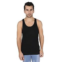 Undercolors Mens Cotton Vest (LM71I_X-Large_Black)