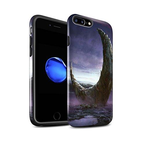 Offiziell Chris Cold Hülle / Glanz Harten Stoßfest Case für Apple iPhone 7 Plus / Raum Mädchen Muster / Fremden Welt Kosmos Kollektion Zerbrochenen Mond