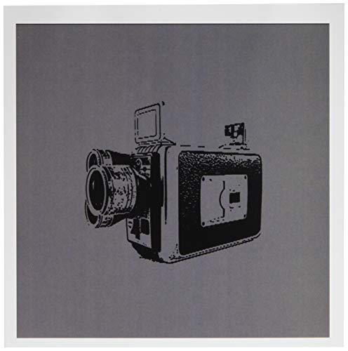 3drose Bild von einem Vintage Super 8Video Kamera auf grauen Hintergrund-Grußkarten, 6von Foto, Set 12(GC 20762_ 2) Super 8 Video Kamera