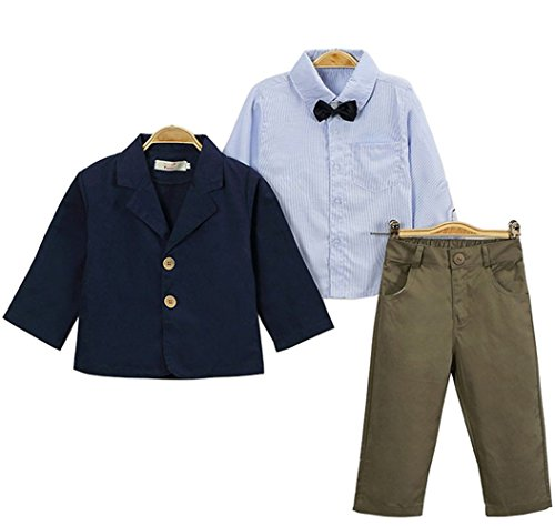Kleinkind Baby Jungen Body Suit Tuxedo Trikotanzug Spielanzug Insgesamt Outfit mit Coat Mantel Smoking Anzüge Sakkos blazer