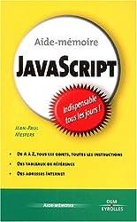 Aide-mémoire Javascript