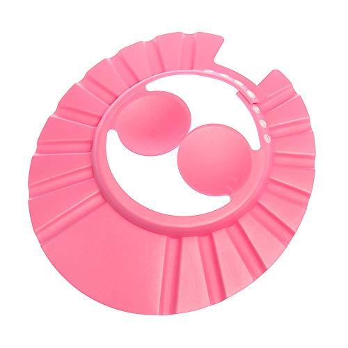 Einstellbare Dusche Bad Visier Schild Waschen Haar Kappe Shampoo Widerstand Schützen Ohr Auge Hut Baby Kinder Kinder Infant Rosa