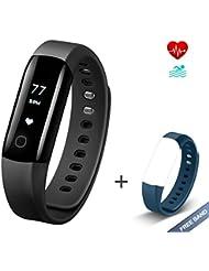 Fitness Tracker mit Herzfrequenzmessgerät Vigorun 4 Fitness Armband Mit kostenlosem Armband IP68 wasserfestes Intelligent Armband für Android&iOS Smartphones
