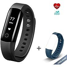 Fitness Tracker Vigorun 4 Braccialetto intelligente Monitoraggio della frequenza cardiaca in tempo reale IP68 impermeabile pedometro calorie Monitoraggio del sonno Notifiche giornaliere per Android e iOS
