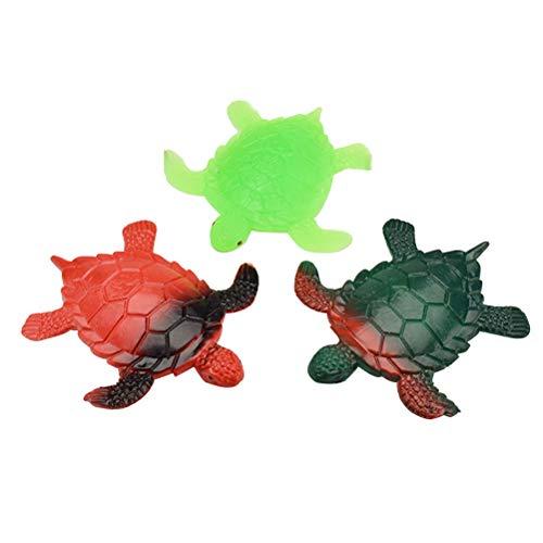 Toyvian 3 stücke Gummi Simulation Schildkröte Modelle Weiche Stress Druckentlastung Spielzeug für Kinder