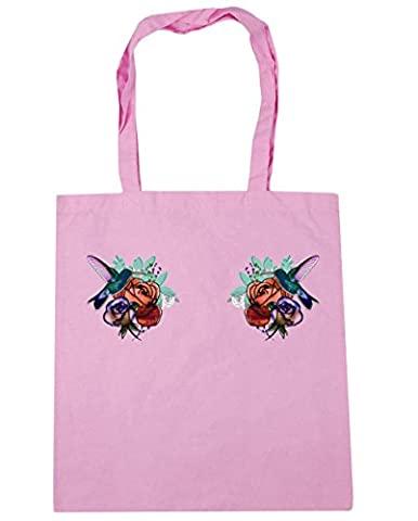 Hippowarehouse , Damen Strandtasche, rosa, 120762-DTG-TOTE-Classic Pink