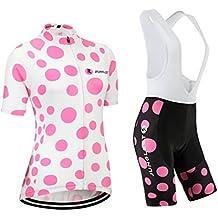 (Cojín 3D)(traje(strap blancas) tamaño:XL) manga los maillot de sudo chaleco mujer rendimiento corta Moda Jerseys rompevientos para ropa transpirable ciclismo