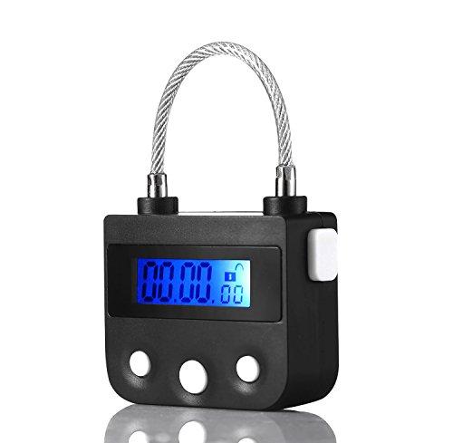 Liquid Crystal Display Timing Schlösser Mehrzweck-Bondage-Ausrüstung (Schwarz)