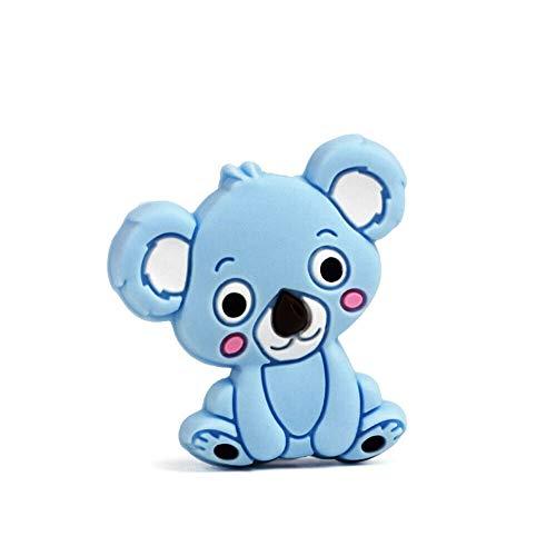 NAttnJf 5 unids Koala bebé mordedor silicona collar