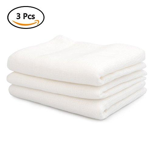 ATPWONZ 51 SqFt natürliche Baumwolle ultra feine Gaze ungebleicht Musselin Käse Tuch für Sieb Filter Tuch, Baby Handtücher (3 Pack, 180 cm x 90 cm, 2 Yards) (Gaze)