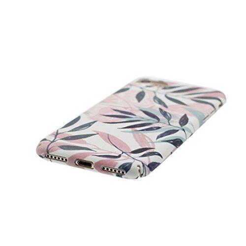 iPhone 7 Custodia, morbida guarnizione TPU in gomma antigraffio protettiva Case iPhone 7 copertura 4.7 Cover [ Sottile ] [Peso leggero] [ fiore ] color 1