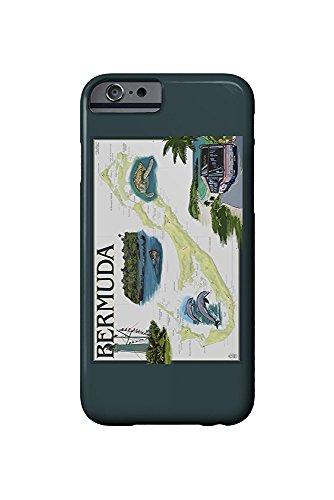 Bermuda-chart (Bermuda - Nautical Chart (iPhone 6 Cell Phone Case, Slim Barely There))